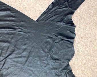 873AP.  Black Leather Cowhide Partial