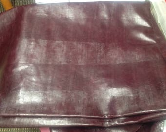 M331.  Eggplant Embossed Gecko Leather Cowhide