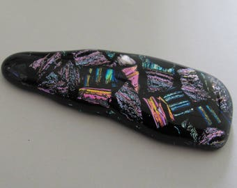 Abstract Freeform Triangular, Dichroic glass, focal pendant cabochon