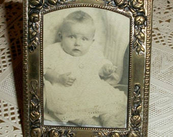 Tiny Metal Frame w/ Photo of a Sweet Baby Girl