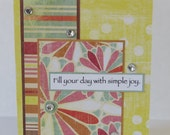 Fill Your Day With Simple Joy Christian Encouragement Card With Scripture