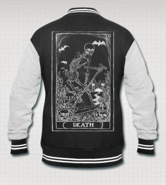 Death Card Grim Reaper Varsity jacket