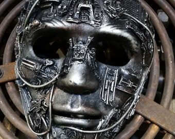 steampunk techno full face mask large,