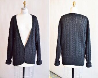 Vintage 1980s MOHAIR wool cardigan
