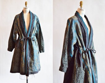 Vintage 1980s KOOS Van DEN AKKER couture linen evening coat