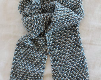 Easy Knitting PATTERN- Child's Tweed Scarf - Beginner Knitting