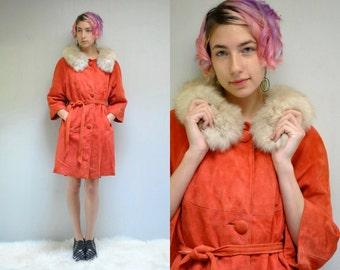 Fur Collar Coat  //  Suede Jacket  //   THE FOXY