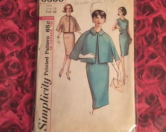 60's Dress with Cape Sewing Pattern