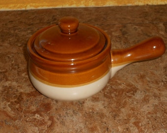 Single Stoneware Soup Crock with Lid
