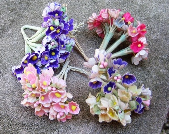 Great Vintage Lot Millinery For get Me Nots Floweres