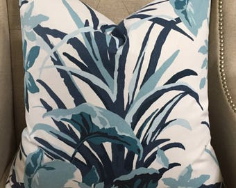 """Madcap Cottage Bermuda Bay in Pool for Robert Allen - 22""""X22"""" - Pattern  on BOTH sides"""