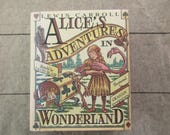 vintage Alice's Adventures in Wonderland-  miniature book, David Blair, Running Press, 1993