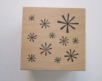 rubber stamp - STARBURST tile - Rubber Soul circa 2005