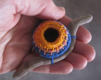 Small Wall Sculpture - Fibre Art Bird Nest Sculpture - Mixed Media One-of-a-kind Driftwood Art