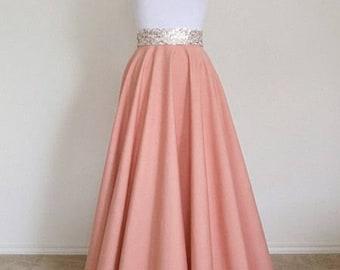 FULL LENGTH Circle Skirt - Maxi Circle Skirt - Many color options - Bespoke. Made to Order Circle Skirt