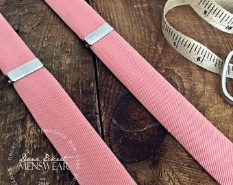 s a l m o n   cotton twilll | SUSPENDERS