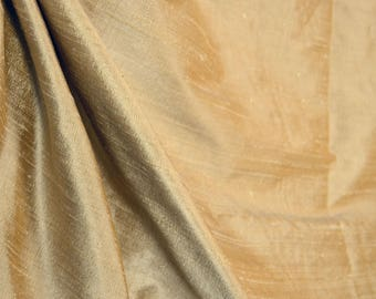 Soft gold silk fabric AC103 Almond