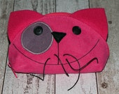 Pink Power Cat, Gift for Cat Mom, Crazy Cat Lady, Cat Lover, Zipper PURRRse, Happy Kitty Face, Monedero Gato, Cell Phone Case, Ready to Ship