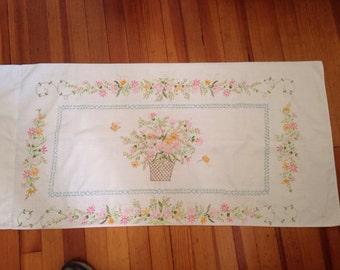 Pair King Size vintage Pillowcases Floral