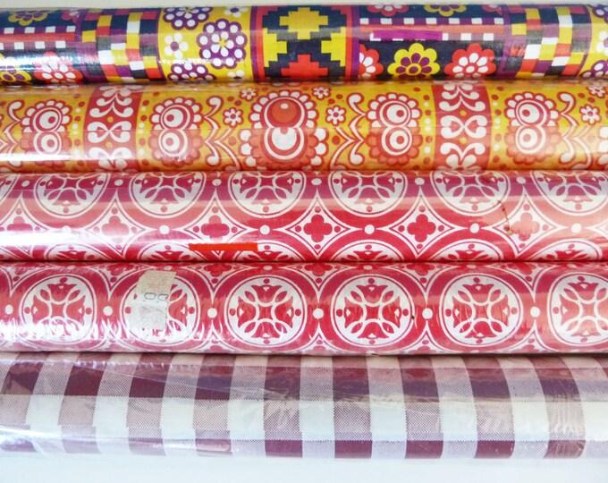 Shelf liner polythene coated paper vintage