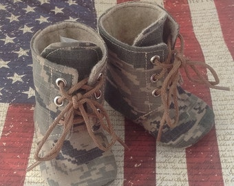 Air Force Baby Combat Boots | Military Camo | Newborn size up to 3T | FREE Shipping in the US