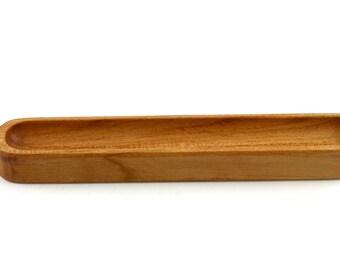 Wooden Cherry Bobbin Holder, Bobbin stand, Olive Tray, Food Safe Olive Dish, Home Décor Gift