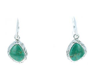 Fox Turquoise Earrings Sterling Silver Southwest Style NewWorldGems