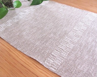 Rustic French Country Home Decor Farmhouse Linen Table Runner, Long Narrow Natural Gray, Shabby Coastal Beach Cottage Chic Cabin, Hand Woven