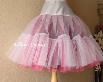 Three Color Tea Length Crinoline. EXTRA EXTRA Fullness Petticoat. Available in Other Colors.