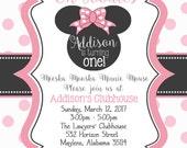 Addison - Minnie Mouse - 15 invites