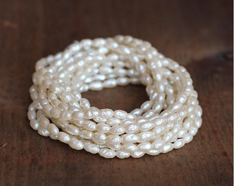 Vintage Miriam Haskell Baroque Rice Pearls