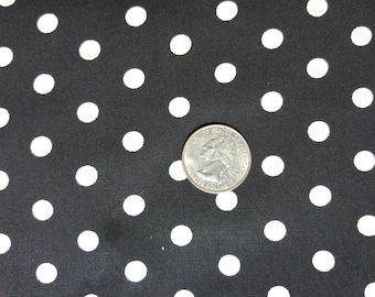 Fabric BTY Black and White Dots by Robert Kaufman