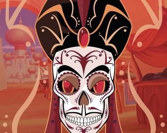 Jafar Sugar Skull 11x14 print