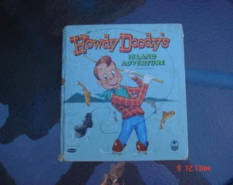 Howdy Doody's Island Adventure - A Cozy Corner Book - Witman - Authorized Edition - Rare