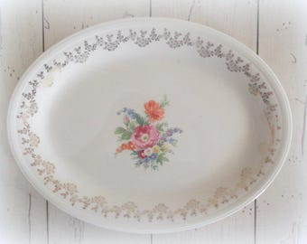 Vintage Platter Ironstone Plate Bohemian Wall Decor Edwin M. Knowles China