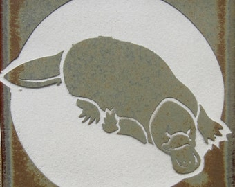 Platypus- 4x4 Etched Porcelain Accent Tile - SRA