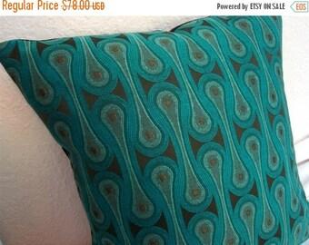 FAB SALE Design 9297 Peacock Josef Hoffmann  Pillow Cover - Blue-Green - Mid Century Modern -  Maharam Fabric