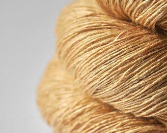 Sticky honey OOAK - Tussah Silk Lace Yarn