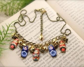 Matryoshka Doll Charm Necklace