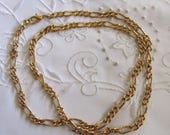 Vintage Gold Tone Chain Link Choker Style Necklace