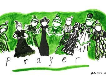 Prayer. Art print by Rachel Awes