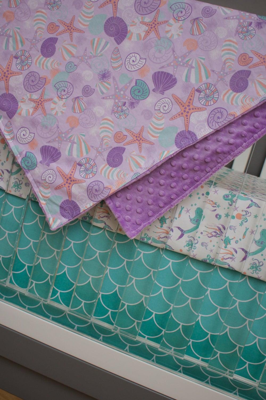 Baby crib for sale laguna - Mermaid Crib Bedding Girl Baby Bedding Purple Mint Teal Turquoise