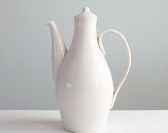 Rare Eva Zeisel Castleton China Museum White Tall Coffee Pot Midcentury Modern