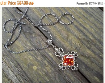 ON SALE Medieval necklace in sterling silver