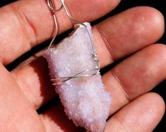 Amethyst Fairy Spirit Quartz Cactus Quartz Crystal Cluster Pendant