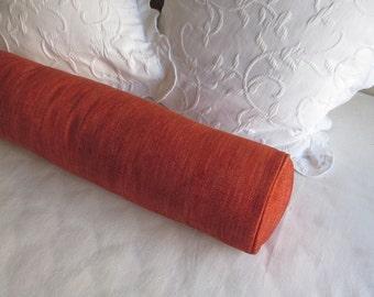 8x36  bolster pillow includes insert, tangerine