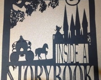 Get lost inside a story book word silhouette up to 5x7