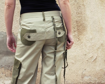 Military avant-garde pants