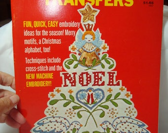 McCalls 1976 Iron On Transfers for Embroidery Cross Stitch and Machine Embroidery  for Christmas .