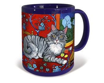 Longhaired Grey Tabby Catisse Mug